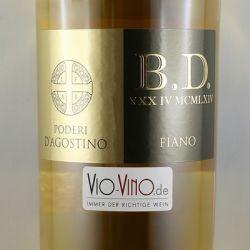 Poderi D'Agostino - B.D. Fiano Murgia Bianco IGP 2015