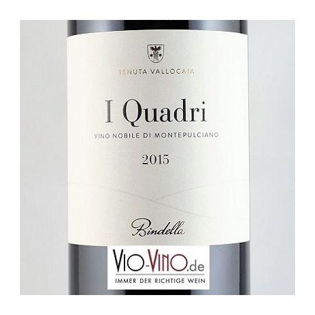 Tenuta Vallocaia Bindella - Vino Nobile di Montepulciano I QUADRI DOCG 2015