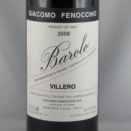 Giacomo Fenocchio - Barolo Villero DOCG 2006