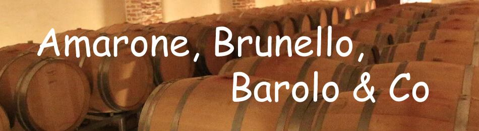 Amarone, Brunello, Barolo & Co